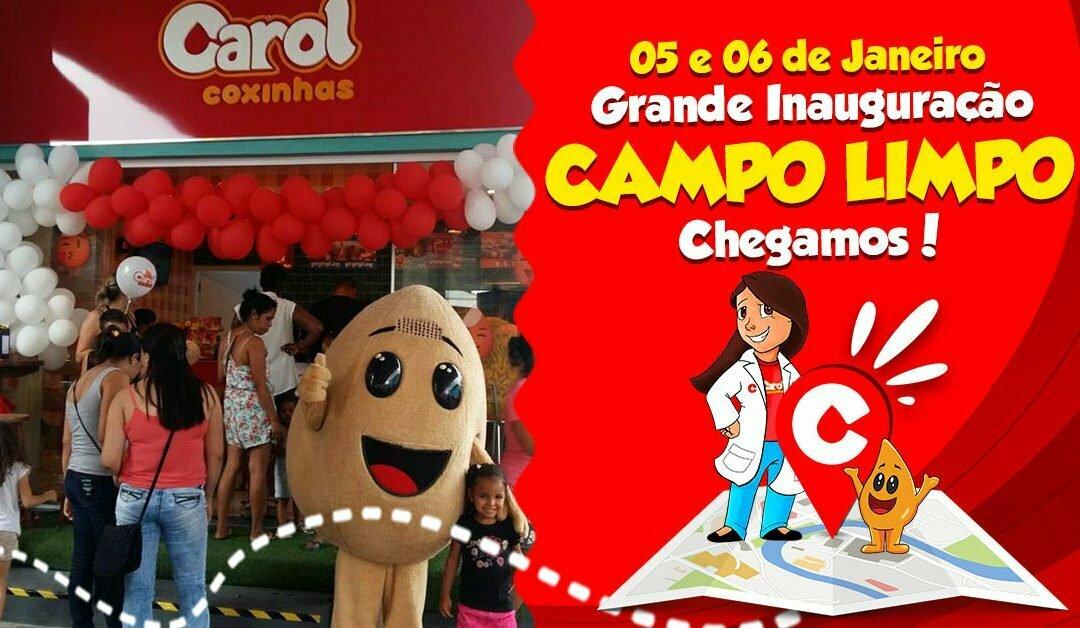 Ano novo tem nova loja da Carol Coxinhas em Campo Limpo, zona sul de São Paulo