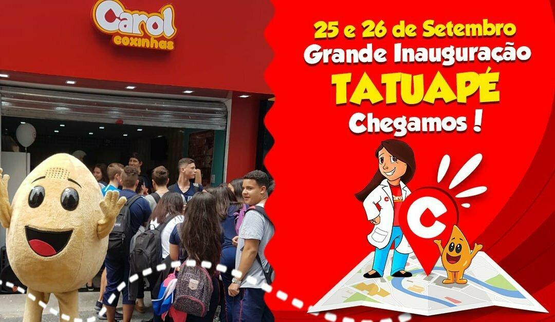 Carol Coxinhas chega a Tatuapé, São Paulo para espalhar sabor e amor!