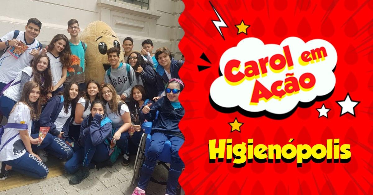 Carol em Ação espalha amor em Higienópolis